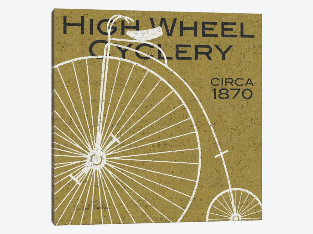 High Wheel Cyclery  by Michael Mullan 1-piece Canvas Art Print