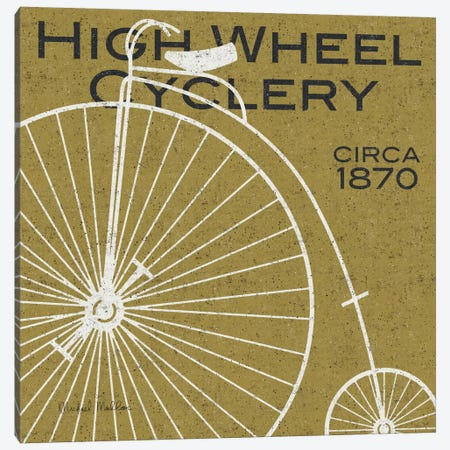 High Wheel Cyclery  Canvas Print #WAC981} by Michael Mullan Art Print