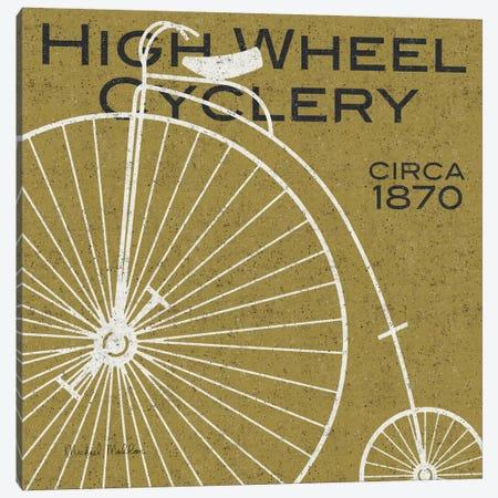 High Wheel Cyclery  Canvas Print #WAC981} by Michael Mullan Art Print