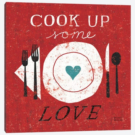 Cook Up Love  Canvas Print #WAC982} by Michael Mullan Canvas Art Print