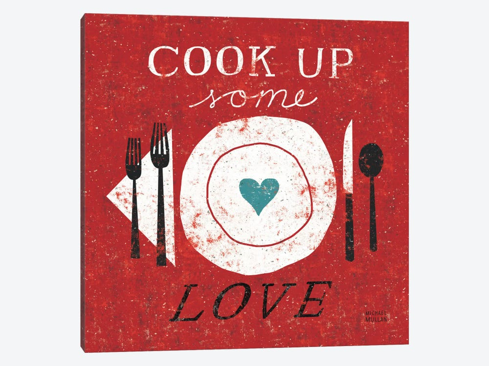 Cook Up Love  by Michael Mullan 1-piece Canvas Artwork