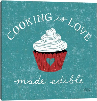Cooking is Love  Canvas Art Print