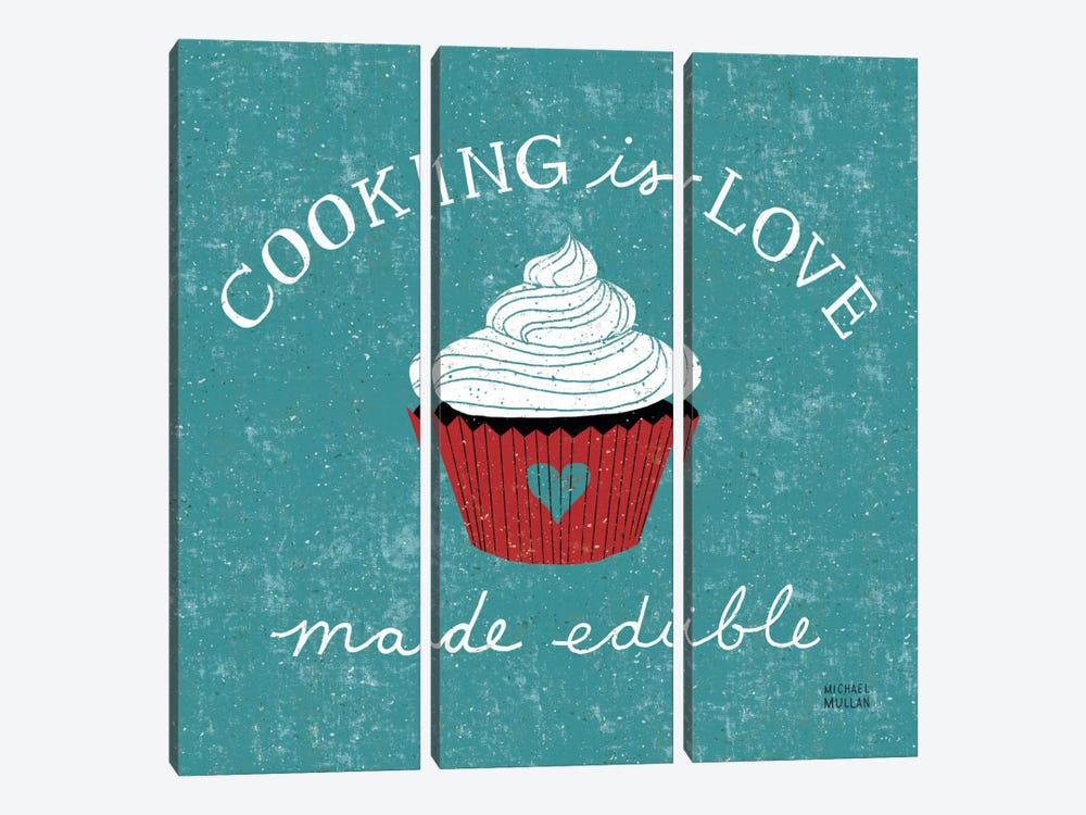 Cooking is Love by Michael Mullan 3-piece Canvas Art Print
