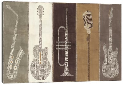 Type Band Neutral Panel  Canvas Print #WAC984