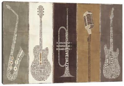 Type Band Neutral Panel  Canvas Art Print