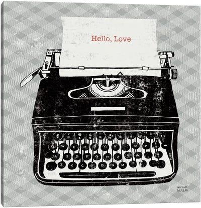 Vintage Analog Typewriter  Canvas Print #WAC987