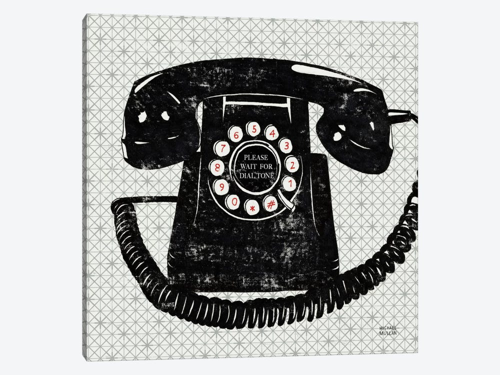 Vintage Analog Phone  by Michael Mullan 1-piece Canvas Art