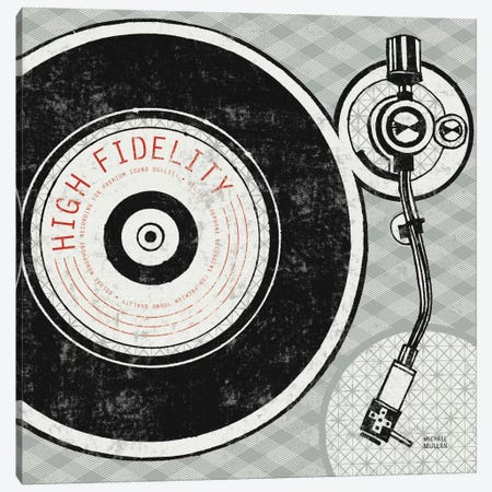 Vintage Analog Record Player  Canvas Print #WAC990} by Michael Mullan Canvas Art