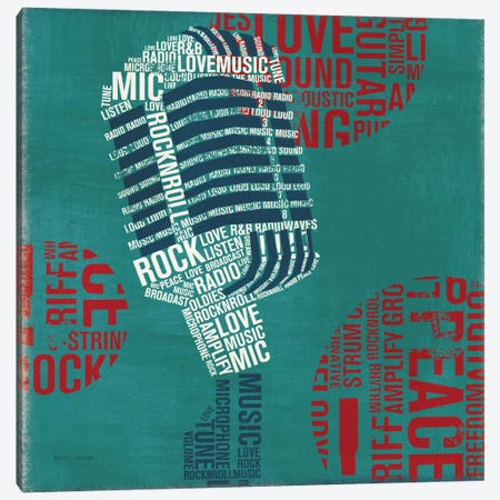 Type Mic Square  Canvas Print #WAC992} by Michael Mullan Canvas Art