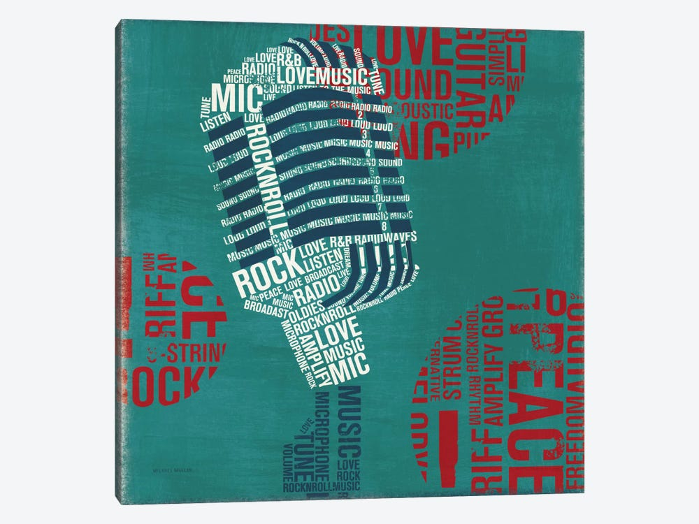 Type Mic Square by Michael Mullan 1-piece Art Print