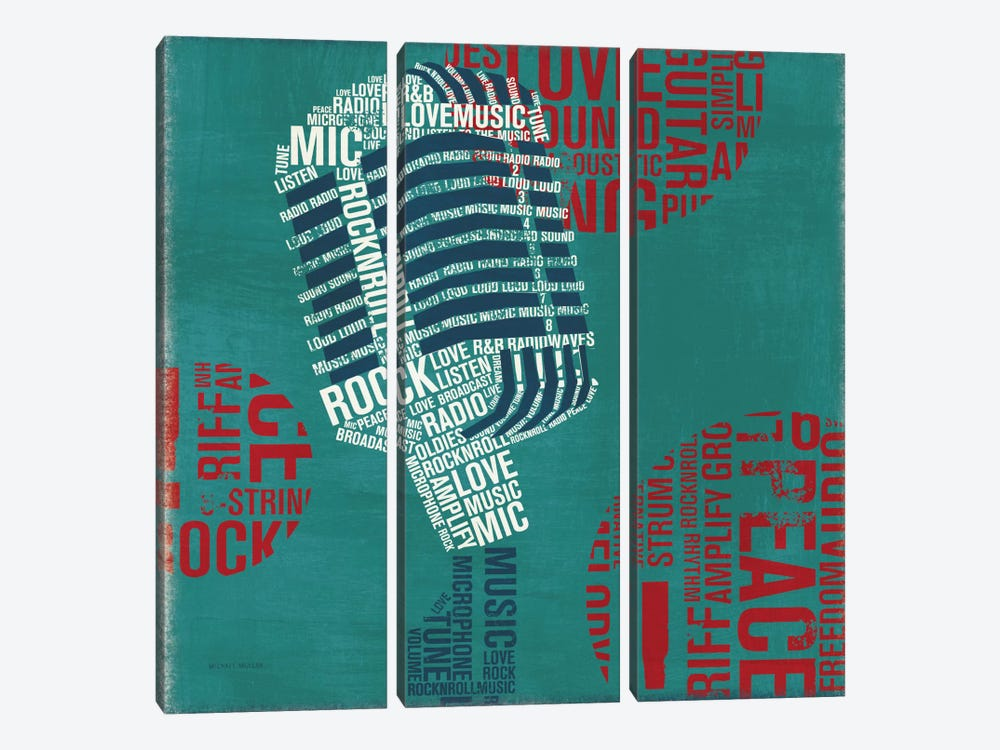 Type Mic Square by Michael Mullan 3-piece Art Print