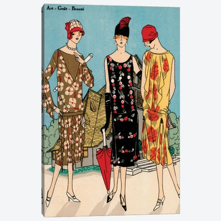 Vintage Couture I Canvas Print #WAG10} by World Art Group Portfolio Canvas Wall Art