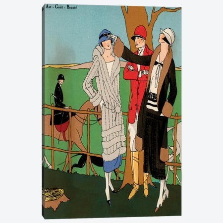 Vintage Couture III Canvas Print #WAG12} by World Art Group Portfolio Canvas Artwork