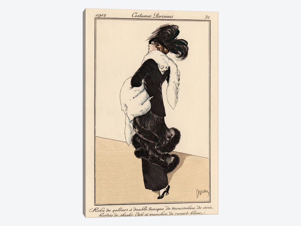 Vintage French Fashion I 1-piece Canvas Artwork
