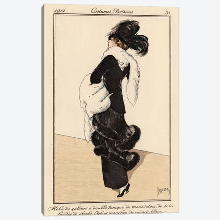 Vintage French Fashion I Canvas Print #WAG136} by World Art Group Portfolio Canvas Artwork