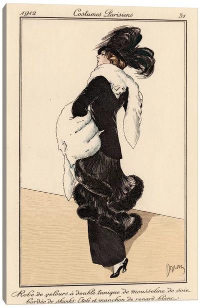 Vintage French Fashion I Canvas Art Print
