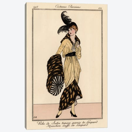 Vintage French Fashion II Canvas Print #WAG137} by World Art Group Portfolio Canvas Wall Art