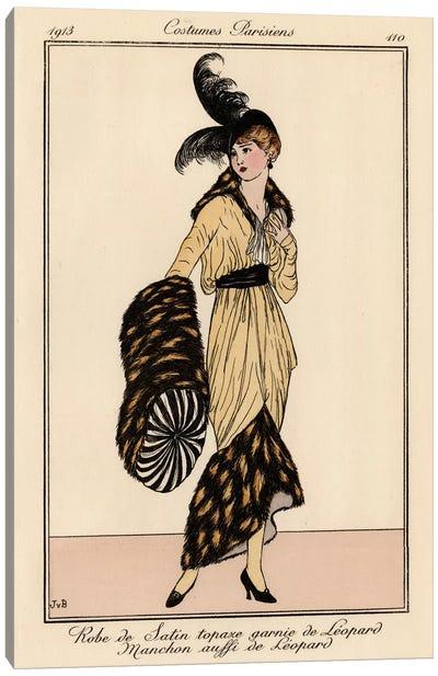Vintage French Fashion II Canvas Art Print