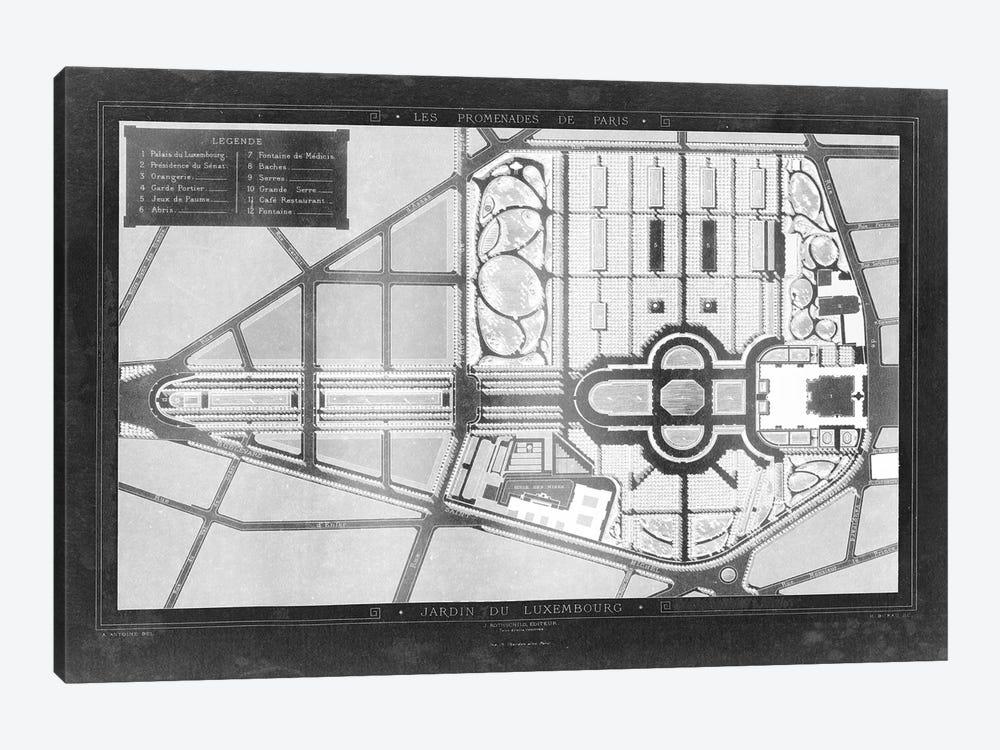 French Garden Blueprint II by Unknown Artist 1-piece Art Print