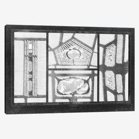 French Garden Blueprint III 3-Piece Canvas #WAG178} by Unknown Artist Canvas Print