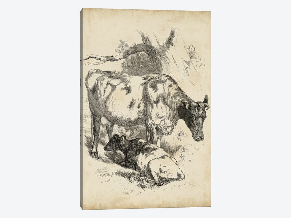 Pastoral Sketch I 1-piece Canvas Art Print