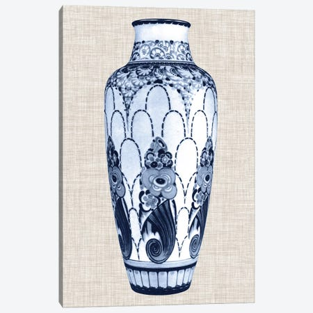 Blue & White Vase I Canvas Print #WAG18} by World Art Group Portfolio Canvas Art