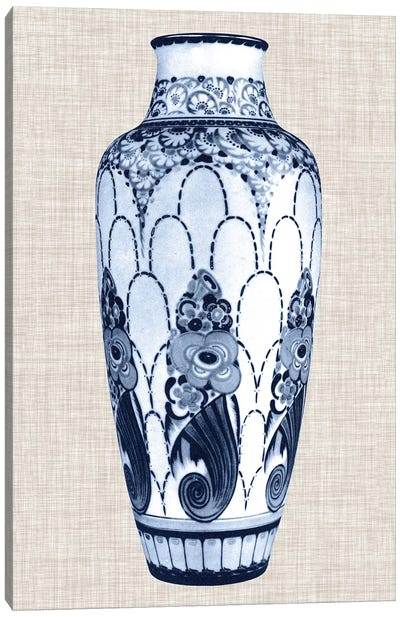 Blue & White Vase I Canvas Art Print