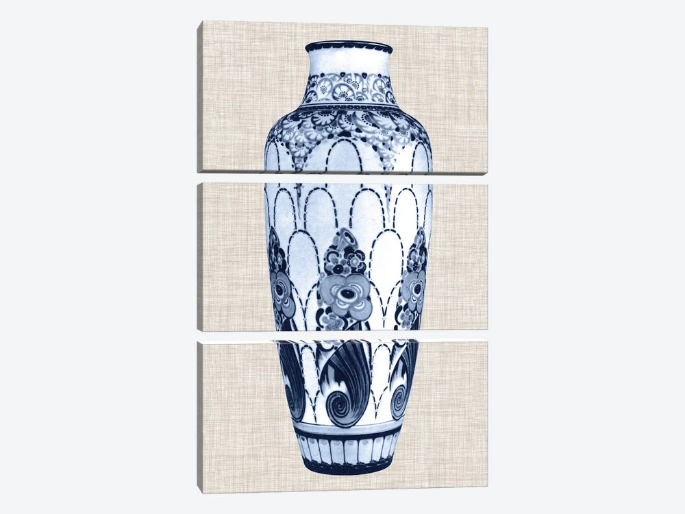 Blue & White Vase I by World Art Group Portfolio 3-piece Canvas Art