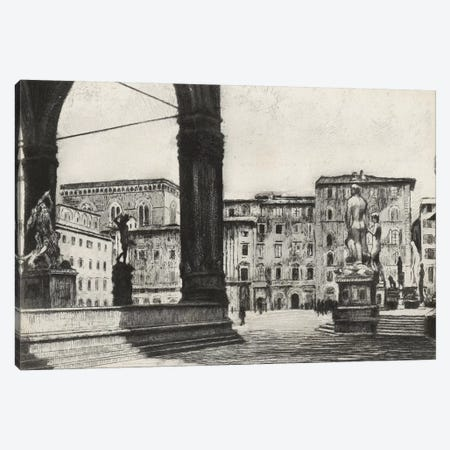 Scenes In Firenze I 3-Piece Canvas #WAG194} by Unknown Artist Canvas Art