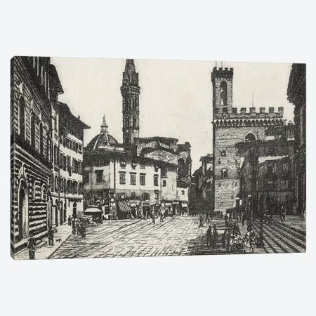 Scenes In Firenze II Canvas Print #WAG195} by Unknown Artist Canvas Art