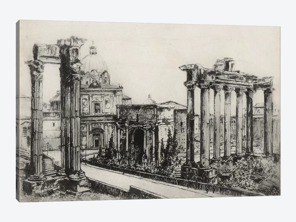 Scenes In Roma by Unknown Artist 1-piece Canvas Art