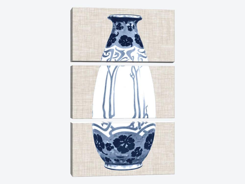 Blue & White Vase II by World Art Group Portfolio 3-piece Canvas Art Print