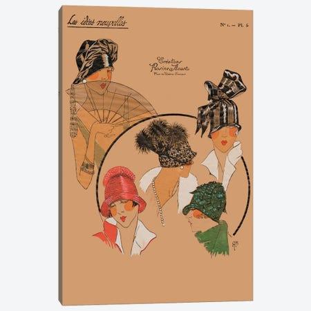 Elegant Chapeau I Canvas Print #WAG1} by World Art Group Portfolio Canvas Print