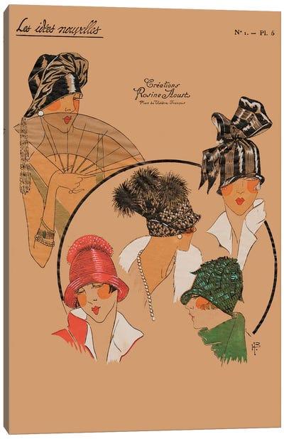 Elegant Chapeau I Canvas Art Print