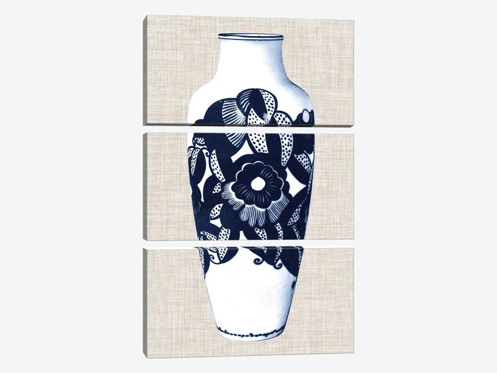Blue & White Vase III by World Art Group Portfolio 3-piece Art Print