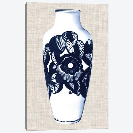 Blue & White Vase III Canvas Print #WAG20} by World Art Group Portfolio Art Print