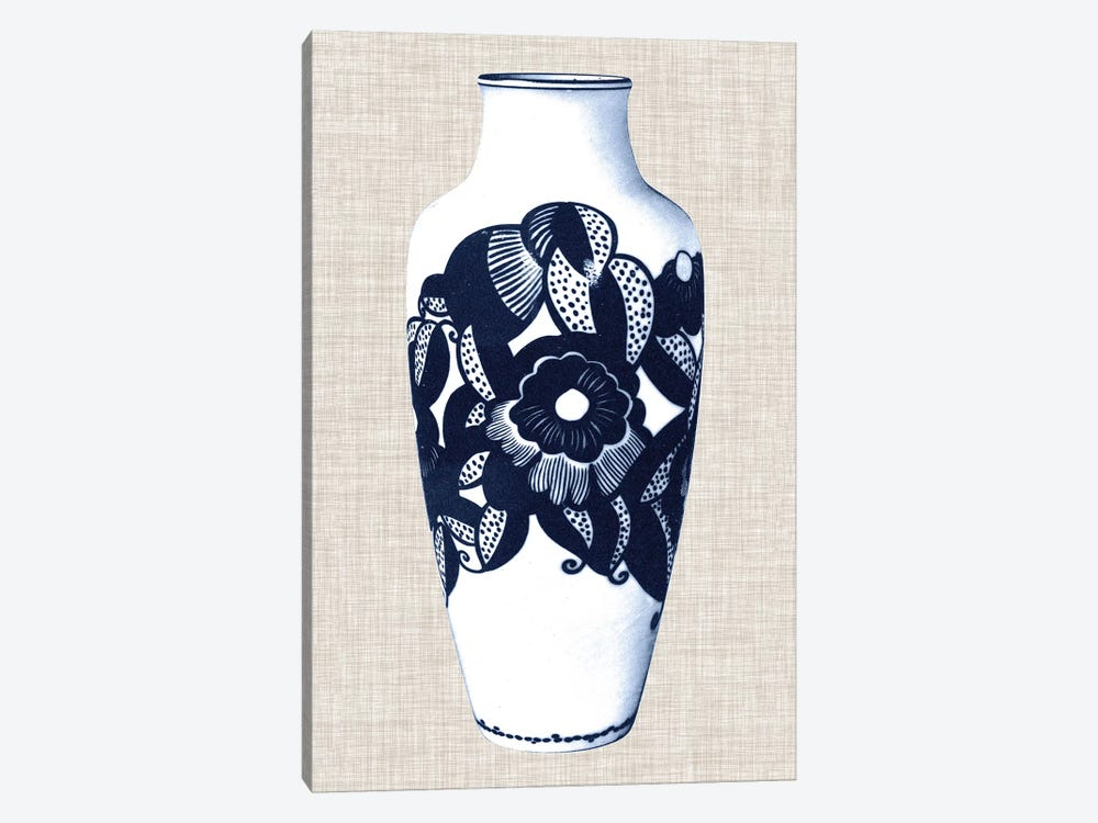 Blue & White Vase III by World Art Group Portfolio 1-piece Canvas Print