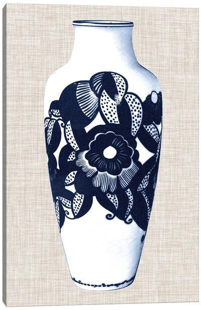 Blue & White Vase III Canvas Art Print