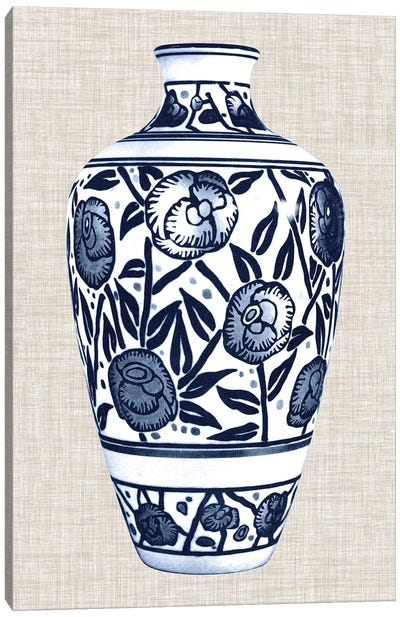 Blue & White Vase IV Canvas Art Print
