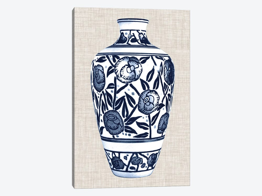Blue & White Vase IV by World Art Group Portfolio 1-piece Canvas Art