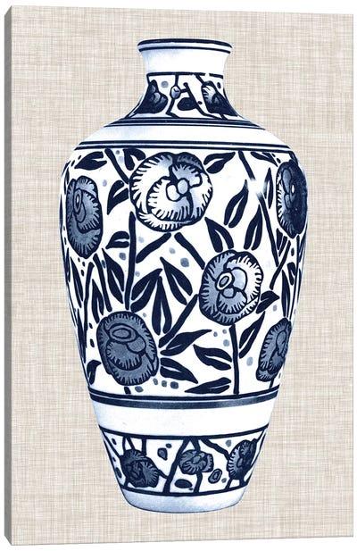 Blue & White Vase IV Canvas Art Print