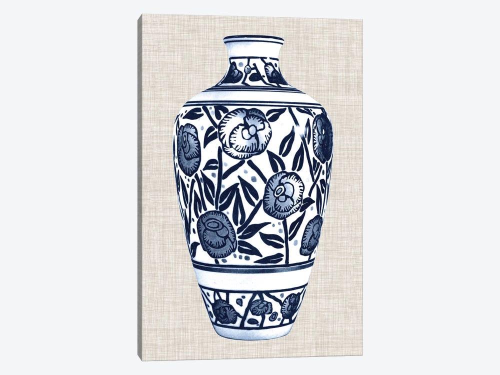 Blue & White Vase IV by World Art Group Portfolio 1-piece Canvas Art