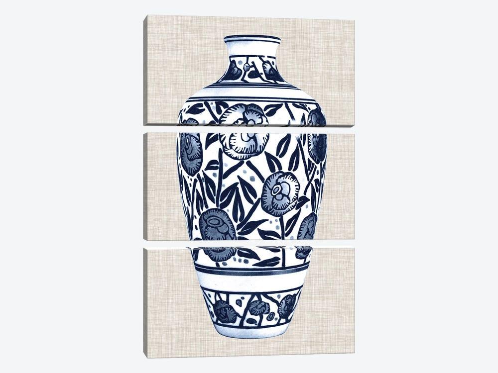 Blue & White Vase IV by World Art Group Portfolio 3-piece Canvas Artwork