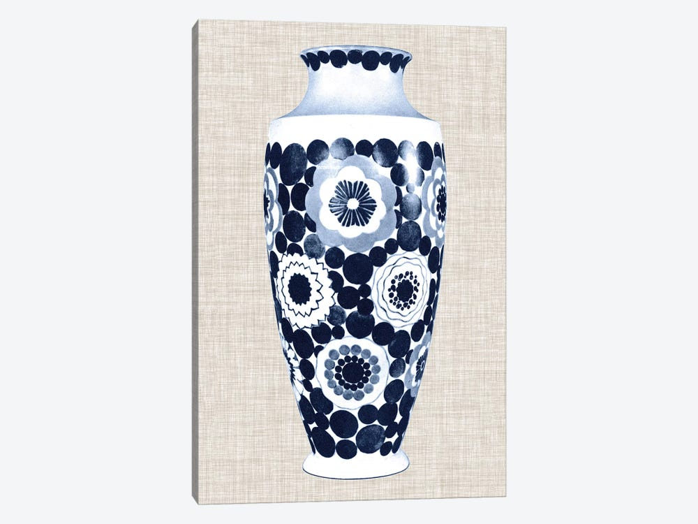 Blue & White Vase V by World Art Group Portfolio 1-piece Canvas Art Print