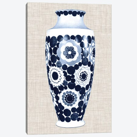 Blue & White Vase V Canvas Print #WAG22} by World Art Group Portfolio Canvas Art Print