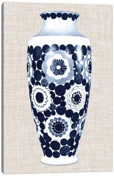 Blue & White Vase V Canvas Art Print