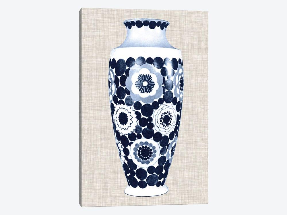 Blue & White Vase V by World Art Group Portfolio 1-piece Canvas Art Print