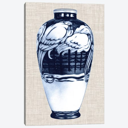 Blue & White Vase VI Canvas Print #WAG23} by World Art Group Portfolio Canvas Art Print