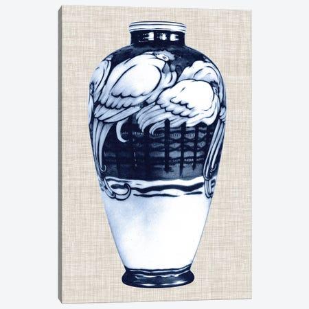 Blue & White Vase VI Canvas Print #WAG23} by World Art Group Portfolio Canvas Art Print