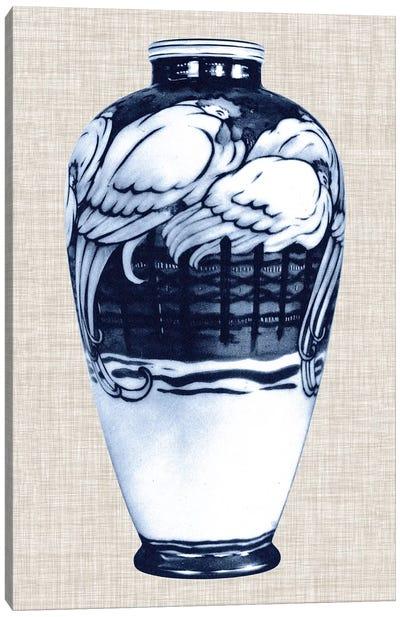 Blue & White Vase VI Canvas Art Print